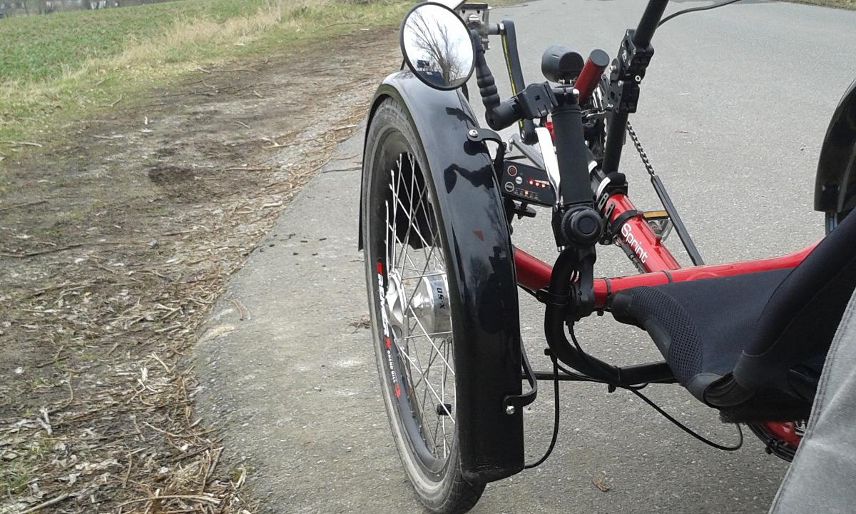 Trike-Schutzblech Mud 1.2 von Fahrradverkleidung.de